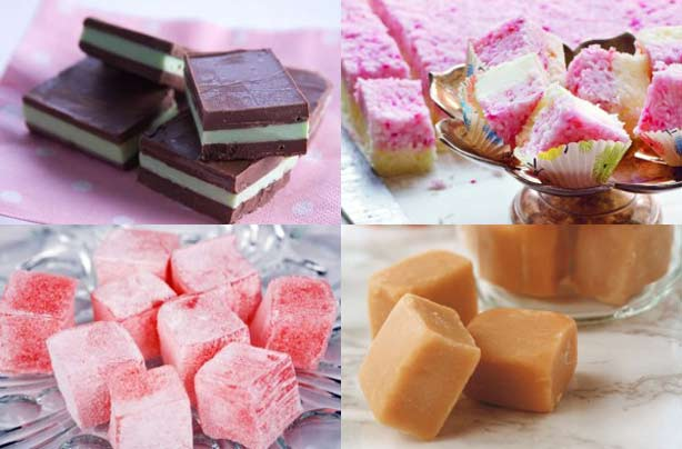 Homemade chocolates and sweets