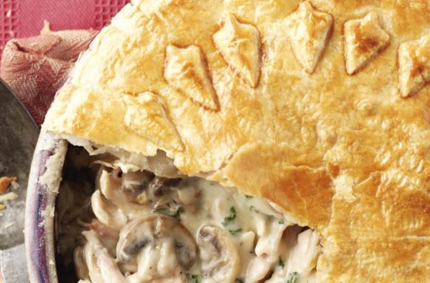 Chicken, mushroom and bacon pie recipe - goodtoknow