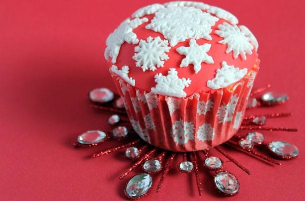 Snowflake cupcakes