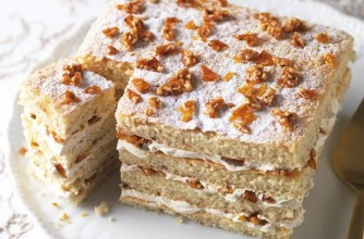 A beautiful layered cake suitable for any occasion. This recipe serves 12-16 people and the ingredients are not expensive.