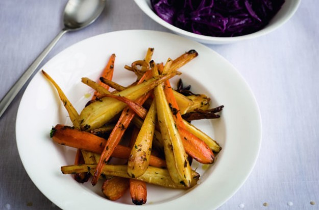 Gordon Ramsay Honey glazed carrots and parsnips
