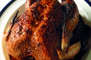 John Torode's turkey with caramelised onions