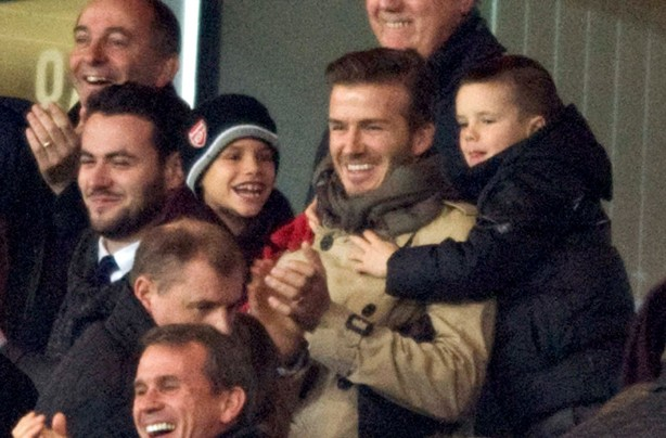 David Beckham and kids