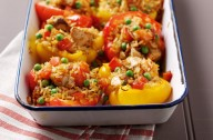 Peppers with spicy turkey stuffing