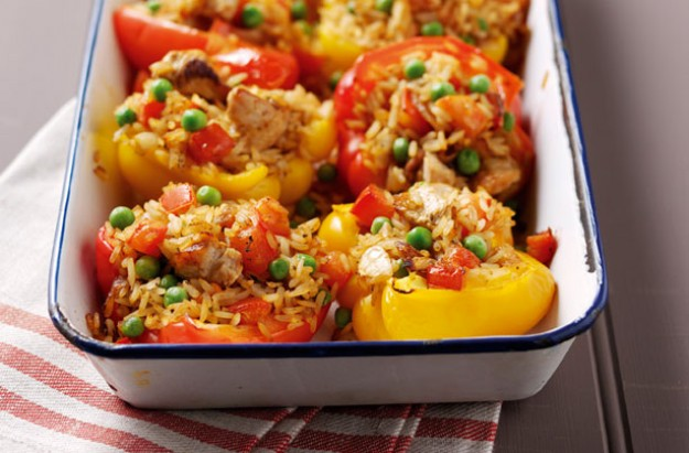 Peppers with spicy turkey stuffing recipe - goodtoknow