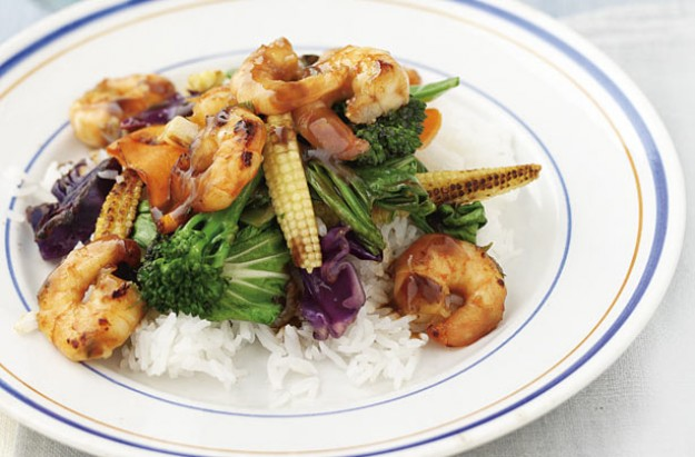 This is quick and easy meal to prepare especially during a busy mid-week. The stir-fry vegetables are pre-cut and even the rice is ready cooked. This recipe serves 2.