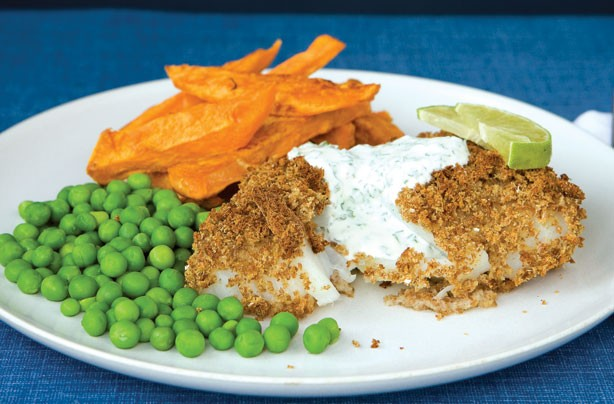 Rosemary Conley's low GI fish and chips recipe