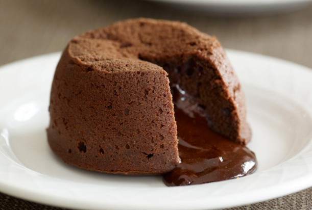 Chocolate coffee fondant puddings