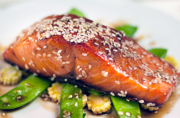 Image result for honey sesame salmon