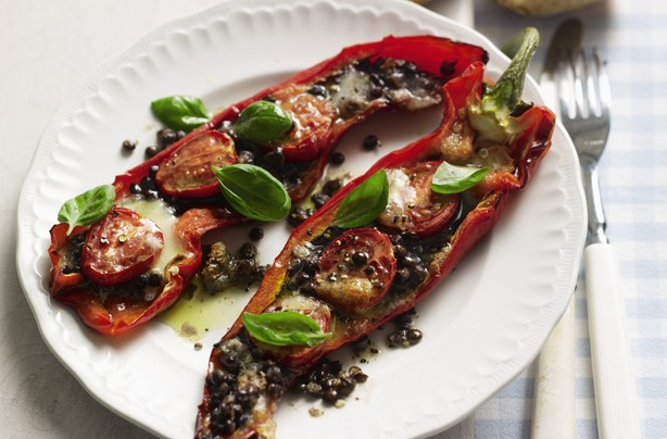 Baked Romano Peppers