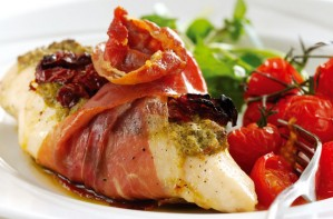 Stuffed chicken with Parma ham