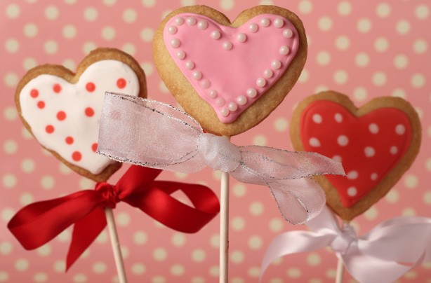 Valentine's cookie lollies