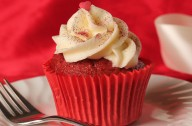 Romantic red velvet cupcakes