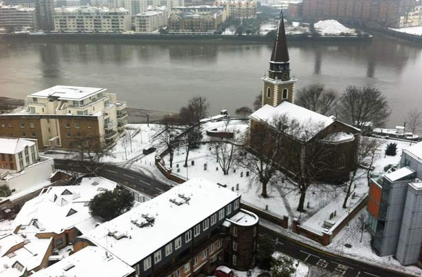 Your snow pictures: A view over the river