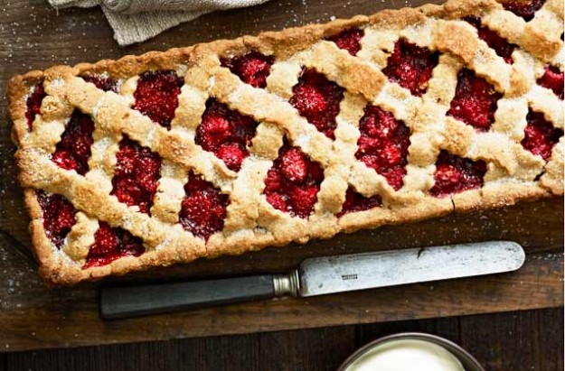 A delicious fruity pie what has a deep filling of luscious raspberries. This perfect dessert serves 8. Why not make an extra one to freeze.