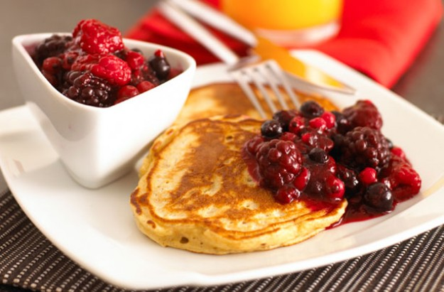 Lower-fat pancakes recipe