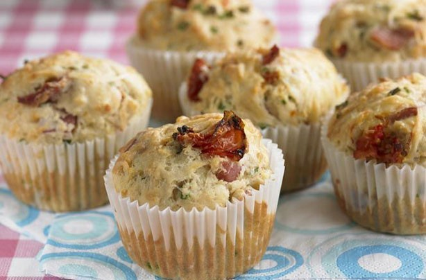 Bacon and Edam lunchbox muffins recipe