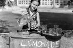 Girl with a lemonade stall