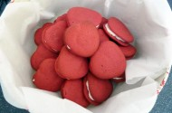 Claire Page's strawberry red velvet whoopie pies
