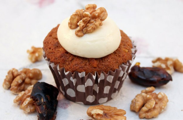 Date and walnut cupcakes