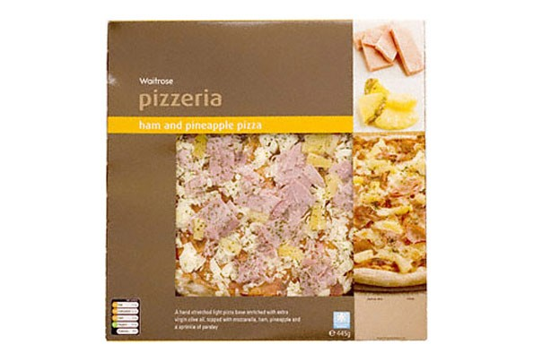 Waitrose ham and pineapple pizza