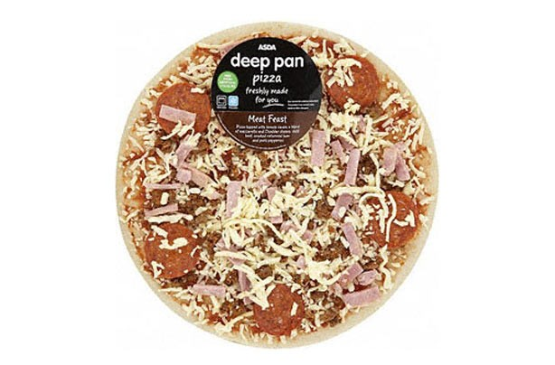 Asda deep pan meat feast