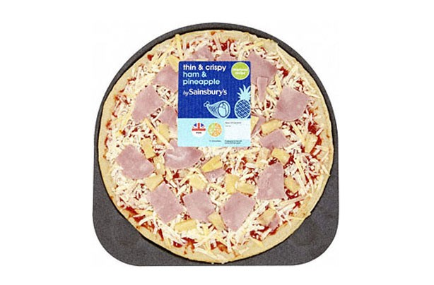 Sainsbury's ham and pineapple pizza