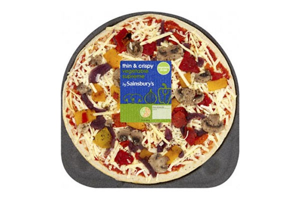 Sainsbury's vegetable pizza