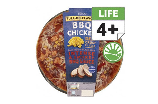 Tesco BBQ pizza