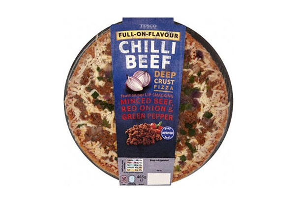 Tesco beef pizza