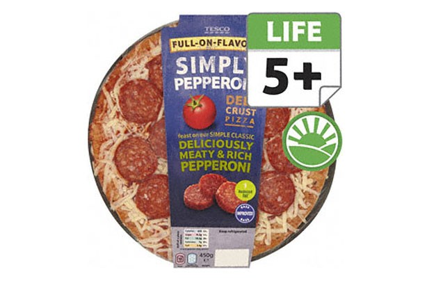 Tesco pepperoni pizza
