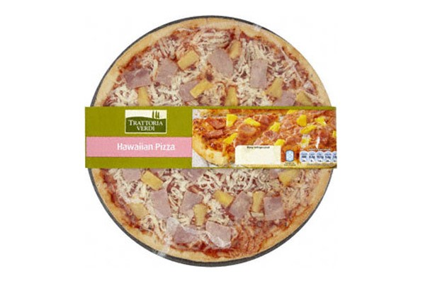Tesco ham and pineapple pizza