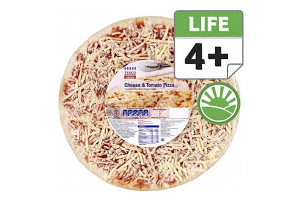 Tesco value pizza
