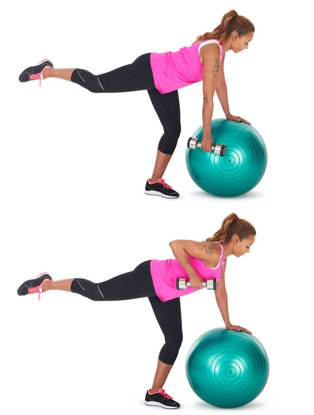 Single leg bent over row: Fitness