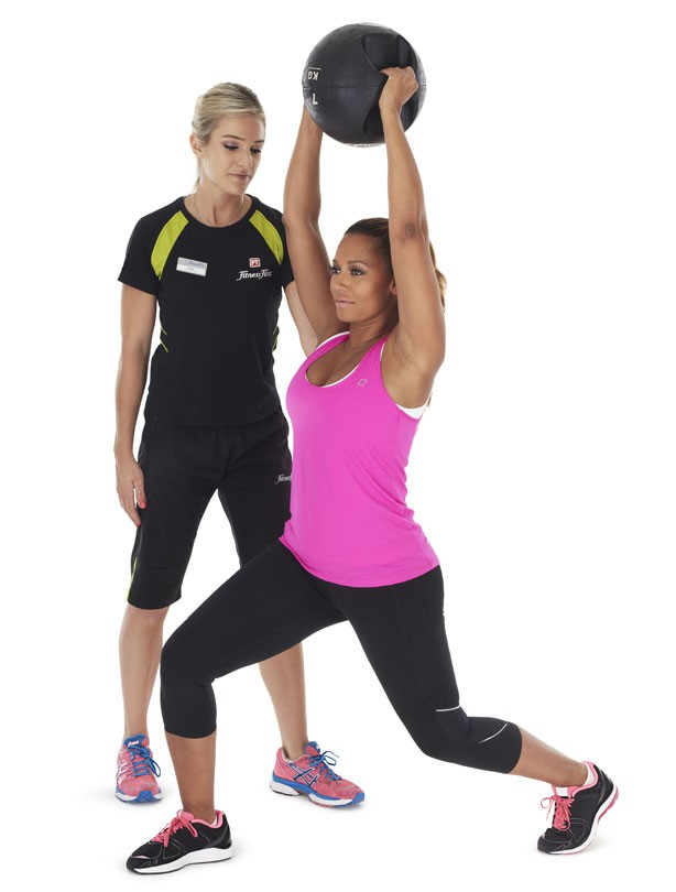 Squat to lunge jump: Fitness