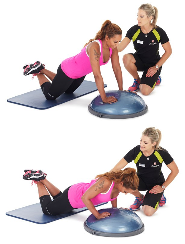 Bosu push ups: Fitness