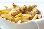 Lemon and parsley chicken with chips