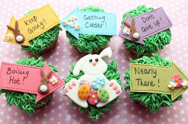 Easter egg hunt cupcakes