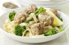 Phil Vickery's lemon turkey meatballs with broccoli