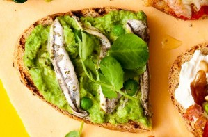 Anchovies on toast