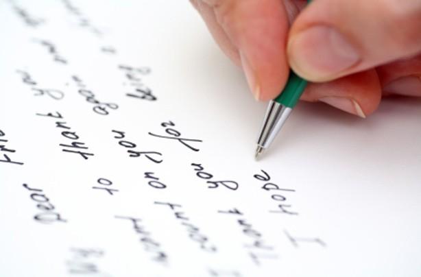 Write a hand written letter