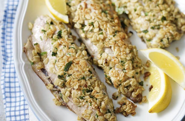 Crispy oaty mackerel fillets recipe goodtoknow for How to cook mackerel fish