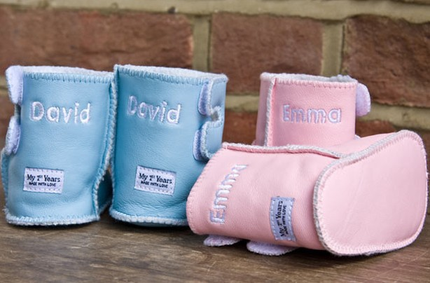50 new baby gifts personalised baby boots goodtoknow baby gift under 30 negle Image collections