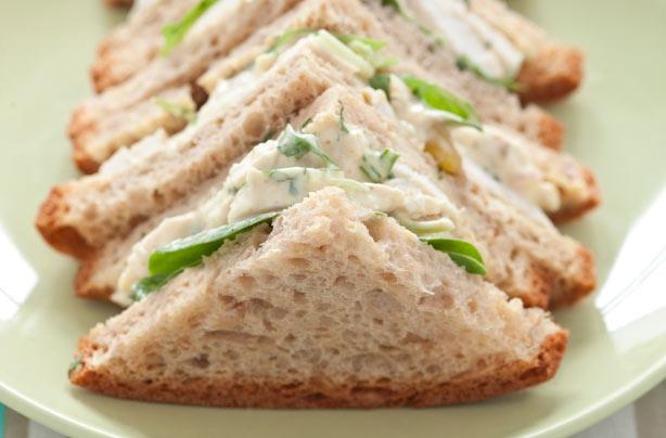 Coronation chicken and coriander salad sandwich recipe ...