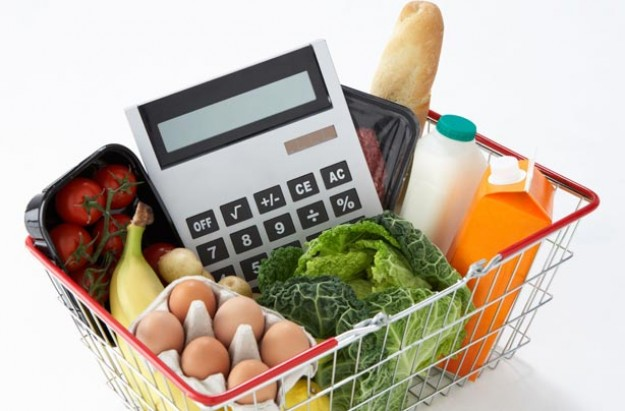 calculator in shopping basket