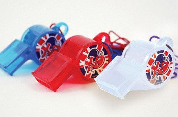 Whistles - jubilee party bag ideas