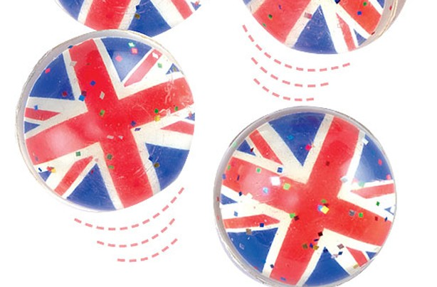 Union jack bouncy ball