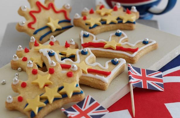 Jubilee jammy shortbread