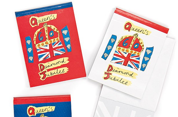Notepads - jubilee party bag ideas