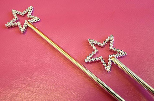 Princess wands - jubilee party bag ideas